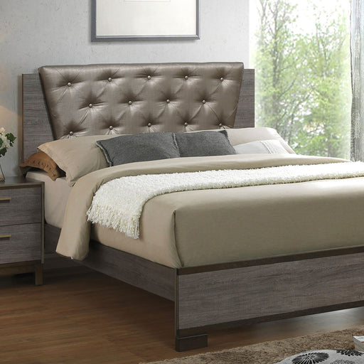 MANVEL Two-Tone Antique Gray Queen Bed image