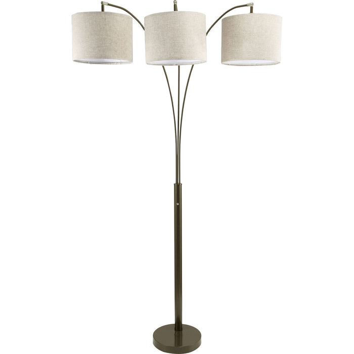 "Fanny Brown 80""H Brown Arch Lamp image"