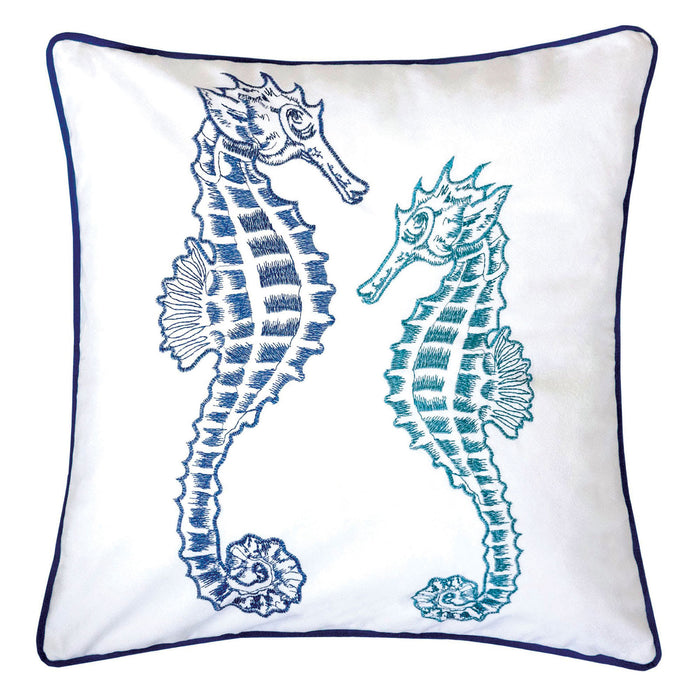 "Lorrie Blue 20"" X 20"" Pillow, Blue image"