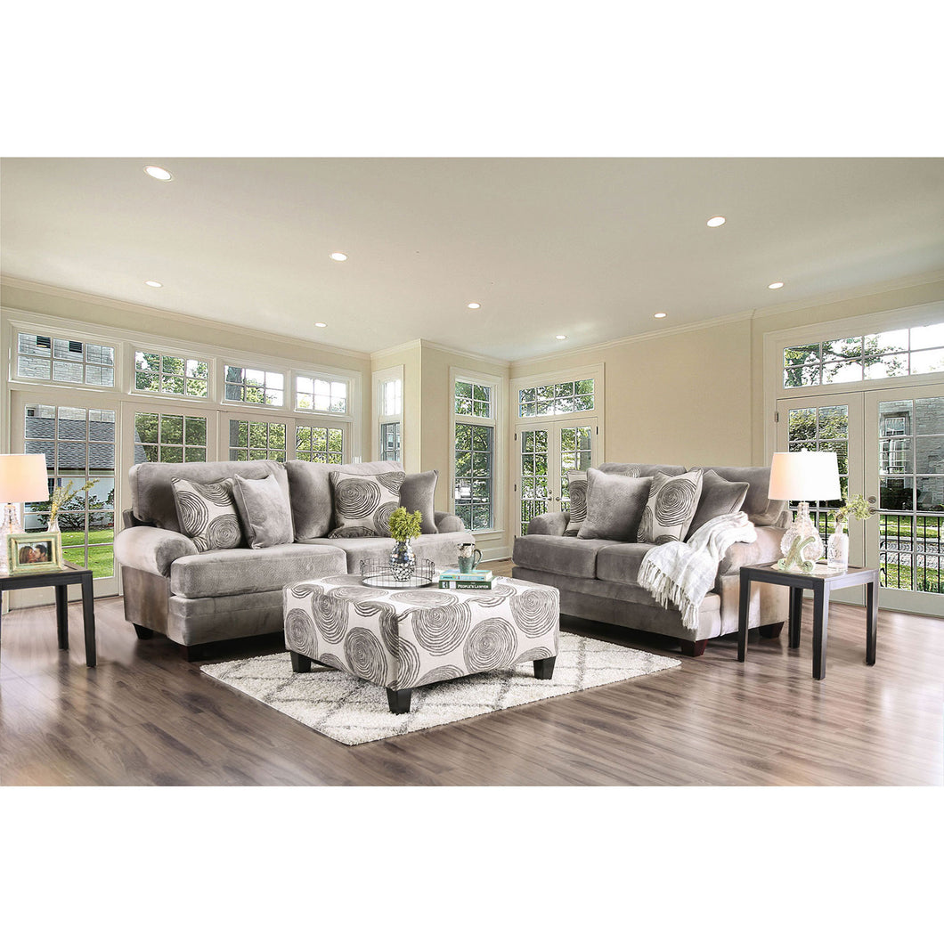 Bonaventura Gray Sofa + Love Seat