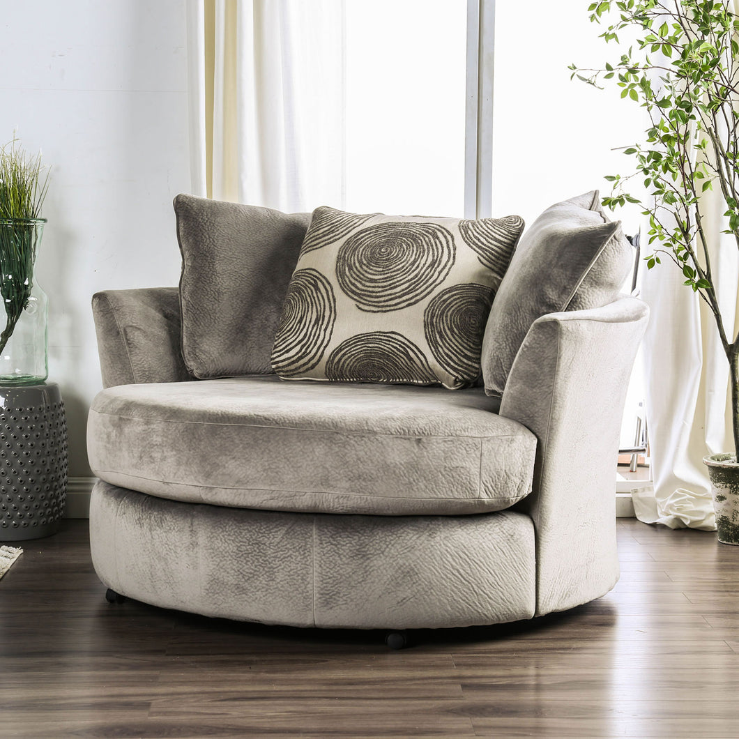 Bonaventura Gray/Pattern Swivel Chair