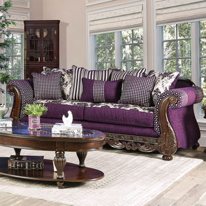 Emilia Purple/Silver Sofa