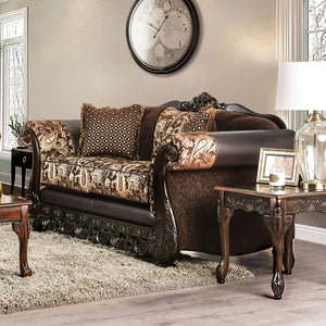 Newdale Brown/Gold Love Seat