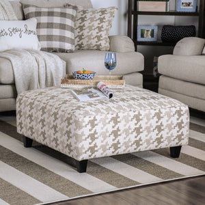 Christine Light Gray/Pattern Ottoman