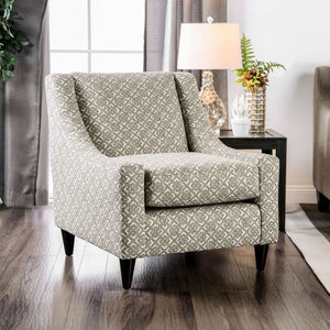 Dorset Light Gray/Pattern Square Chair