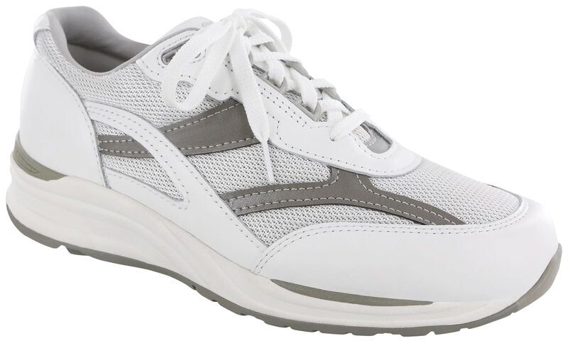 Journey Mesh Lace Up Sneaker - White/Gray