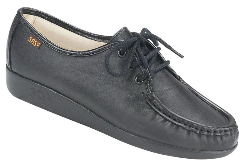 Siesta Lace Up Loafer - Black