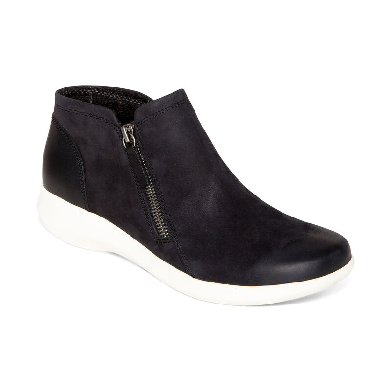 Serena Zip Up Ankle Boot Black