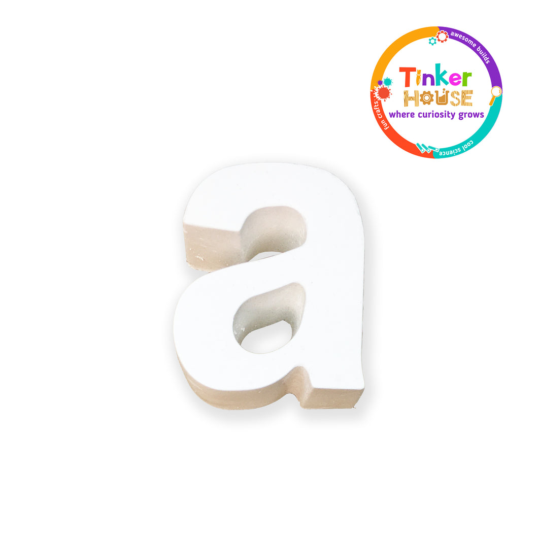 Lowercase Plaster Letters & Stand