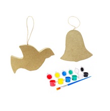 Load image into Gallery viewer, Paper Mache Ornament Paint Kits