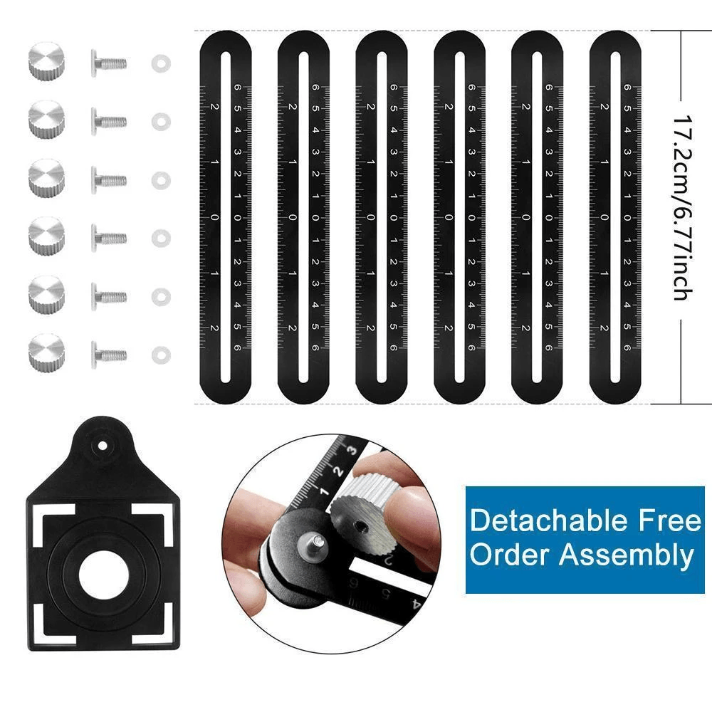 "Binoax™ Six-Sided Aluminum Alloy Angle Measuring Tool.  Limited Stock!! 15% OFF when you ""Add to Cart'"