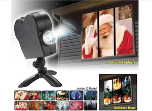 Christmas Halloween Holographic Laser Projector 12 Movies
