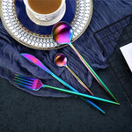 Taste of the Rainbow Stainless Steel Cutlery (4pcs) 15% OFF when you 'Add to Cart'
