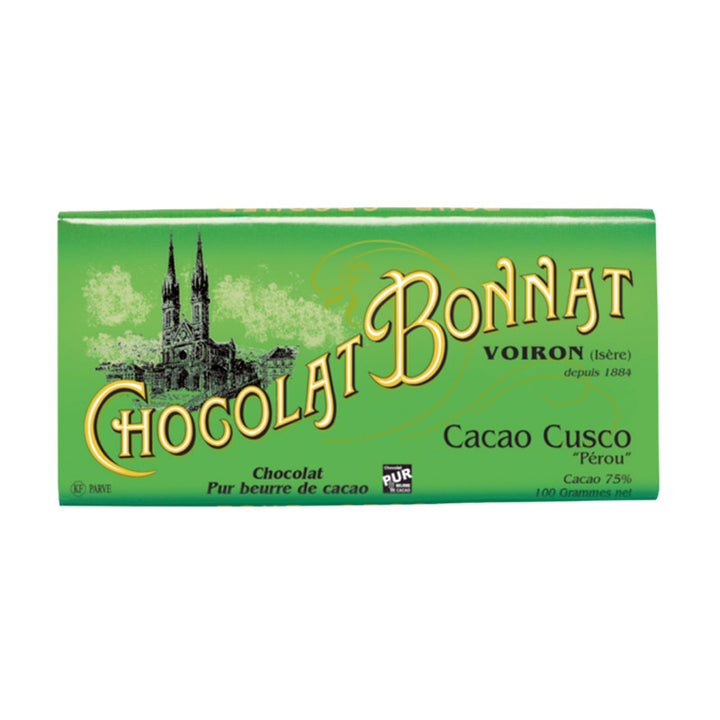 Tablette Bonnat Cacao Cusco - Vendu par Chocolat Bonnat