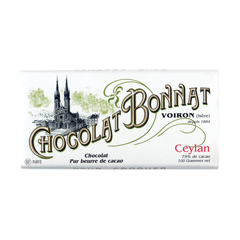 Tablette Bonnat Ceylan - Vendu par Chocolat Bonnat