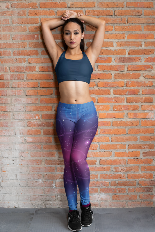 Galaxy Cloudy Women's Workout Leggings