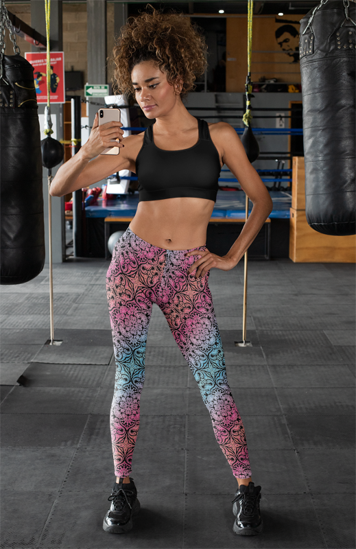 Mandala Rainbow Women's Workout Leggings
