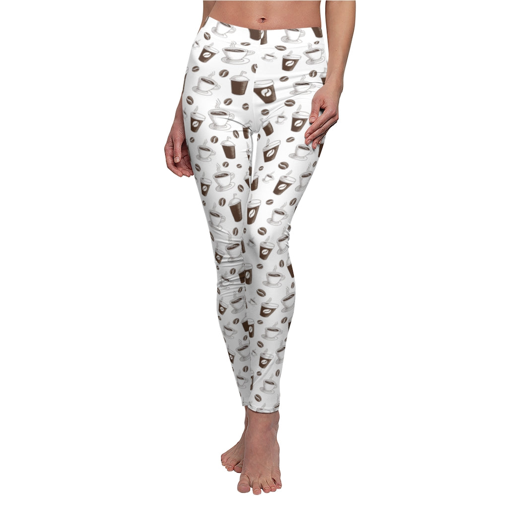 Coffee White Women's Yoga Leggings