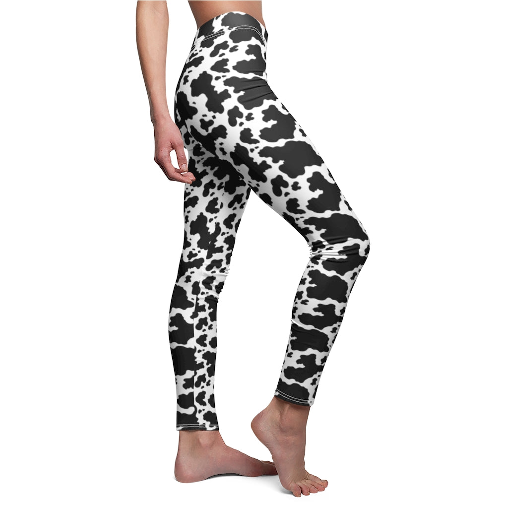 Cow Skin Women's Workout Leggings