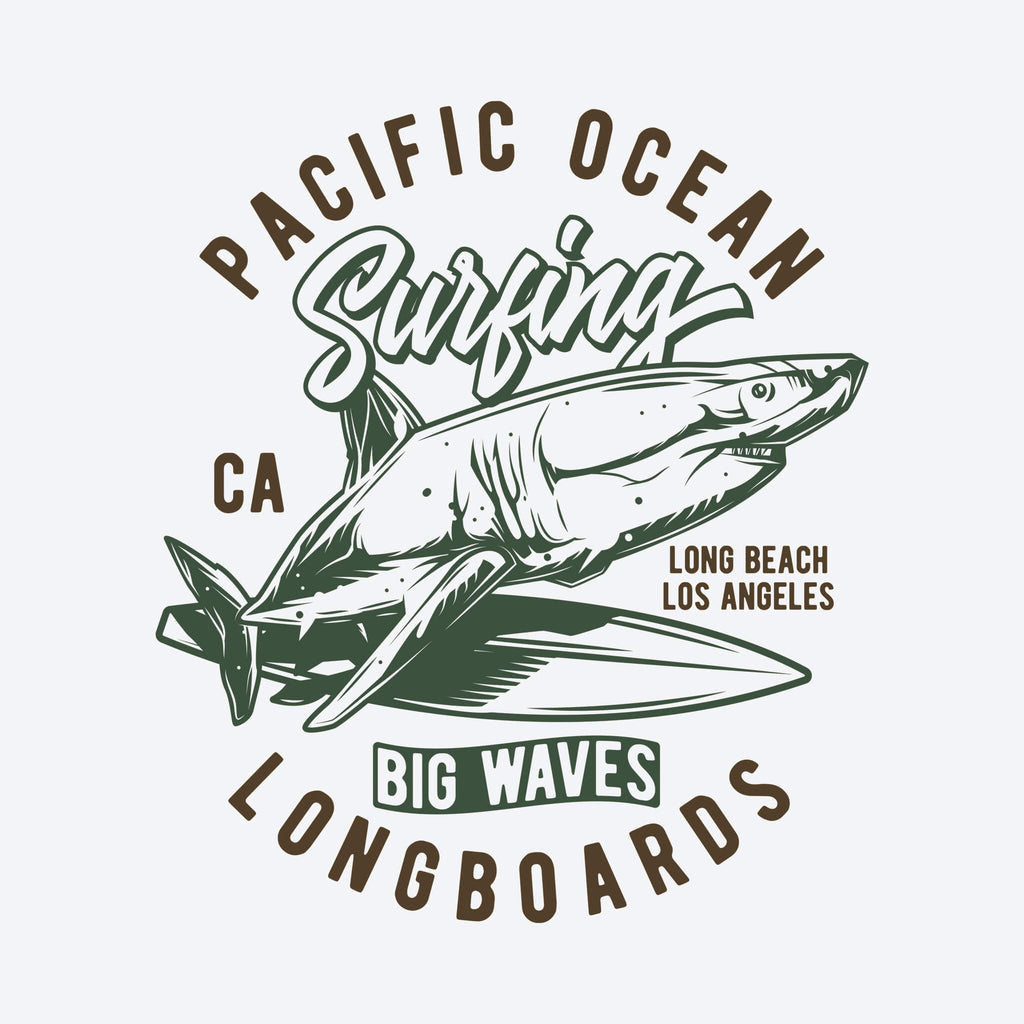 Pacific Ocean Surfing Unisex T-Shirt