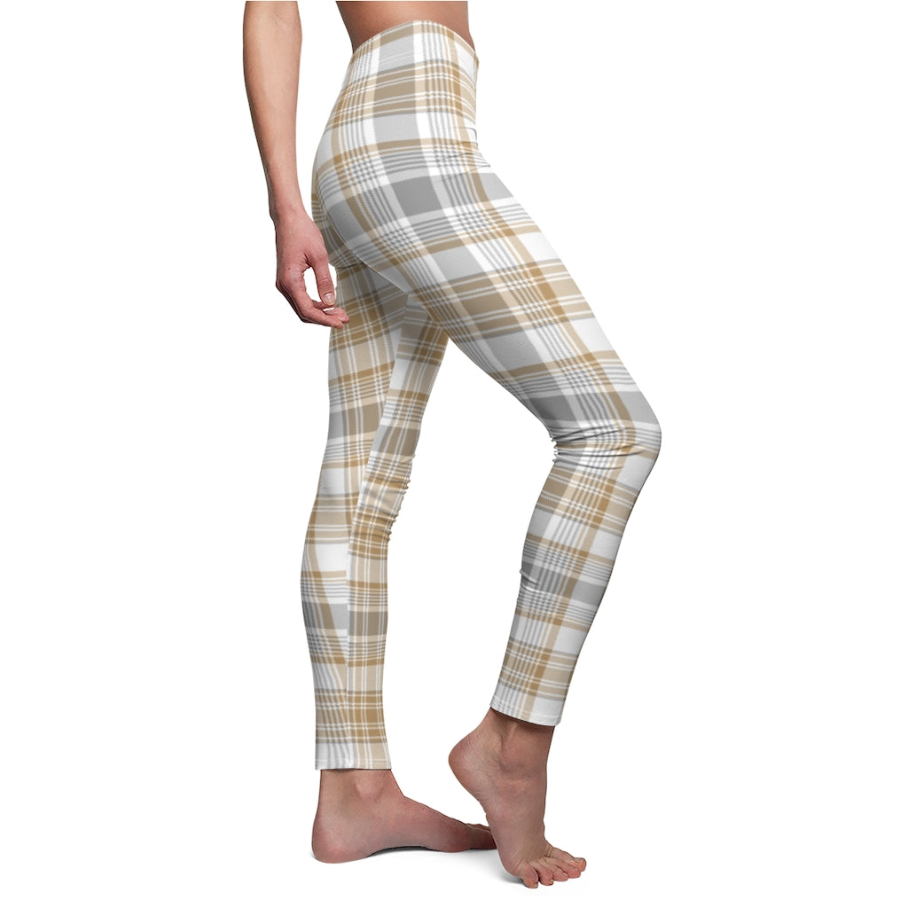 Light Checkered Women's Casual Leggings