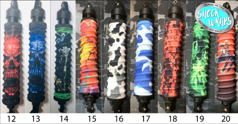 Traxxas XMaxx 1/10th (4s) Custom Shock Wrap Designs