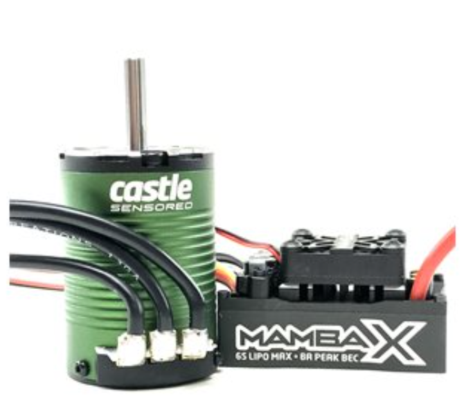 MAMBA X SCT, SENSORED, 25.2V WP ESC AND 1410-3800KV 5MM COMBO