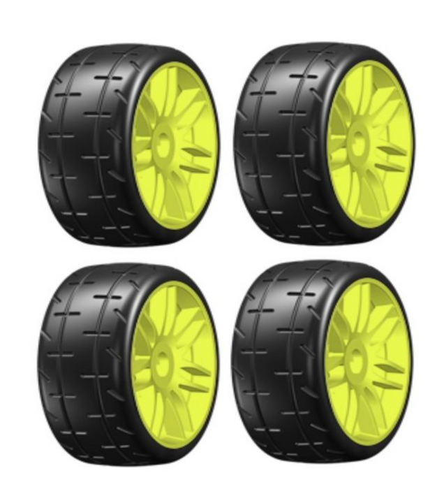 GRP GTY01-S4 Belted GT T01 REVO S4 Soft Mounted Tires (4) 1/8 Buggy 17mm