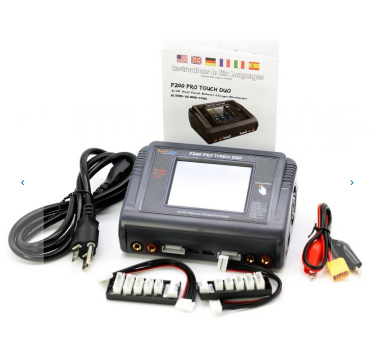Powerhobby P200 Pro DUO 12A 200W/400W AC/DC Touch Screen Lipo Charger