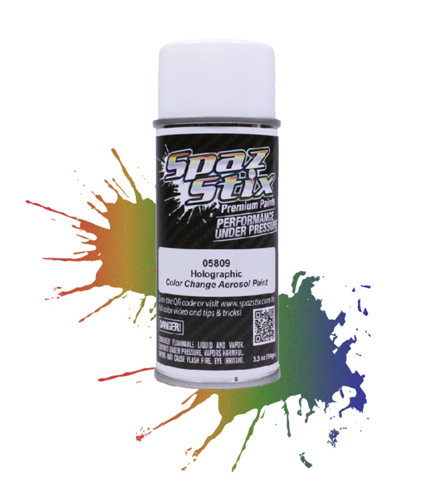 Spaz Stix - Color Change Aerosol Paint, Holographic, 3.5oz Can