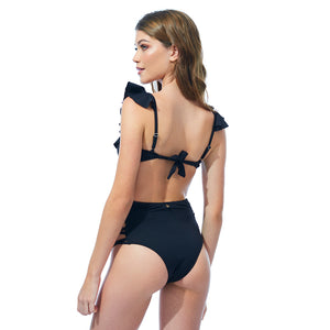 Bottom Hot Pant Preto Modelo Costas