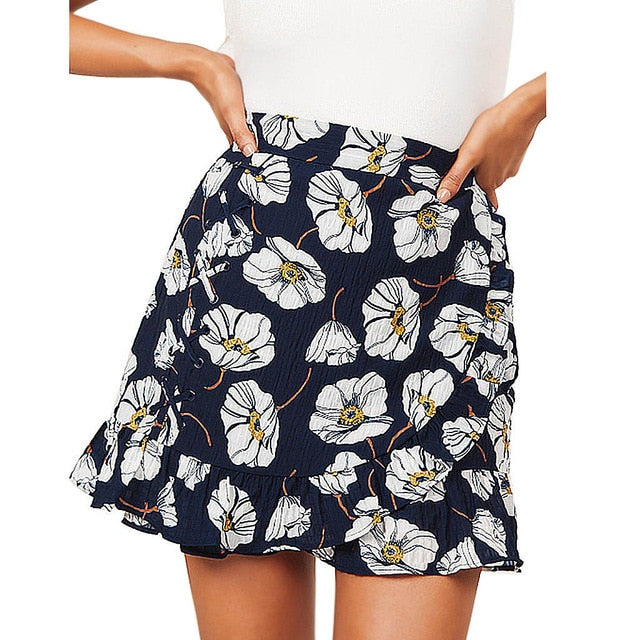 Feitong Women Skirts Fashion Sexy Casual Ptintting Party High Waist Hip Causal Short Skirt Summer Jupe Femme Women Clothing