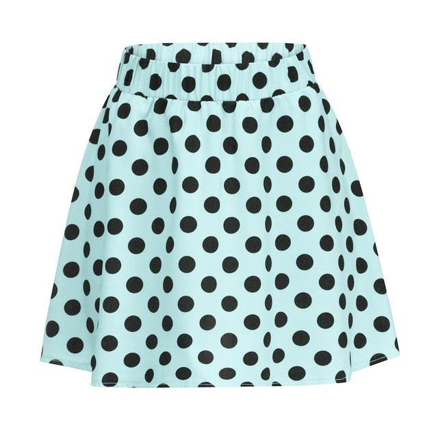 Feitong Fashion Party Cocktail Summer Women Skirts Dot Printed Skirt High Waist Midi Skirt Party Casual Skirts Summer Jupe Femme