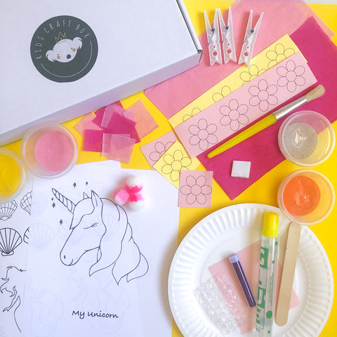Mermaids & Unicorns - Kids Craft Box