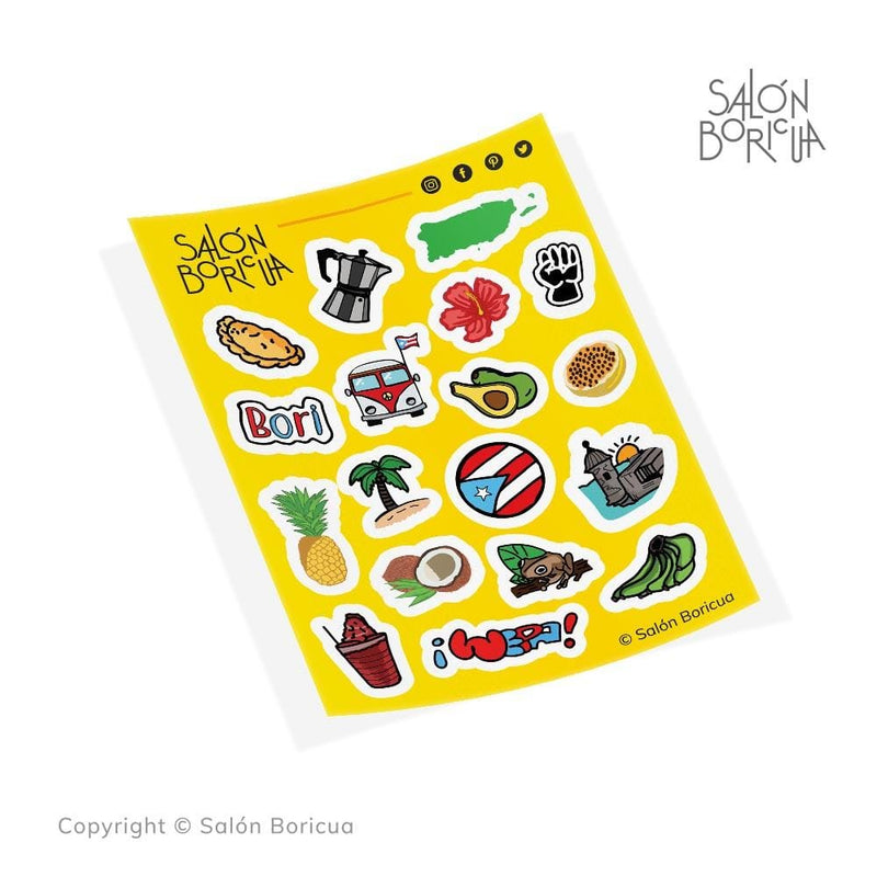 Mini Stickers Sheet No. 1 - YELLOW (Premium Sticker)