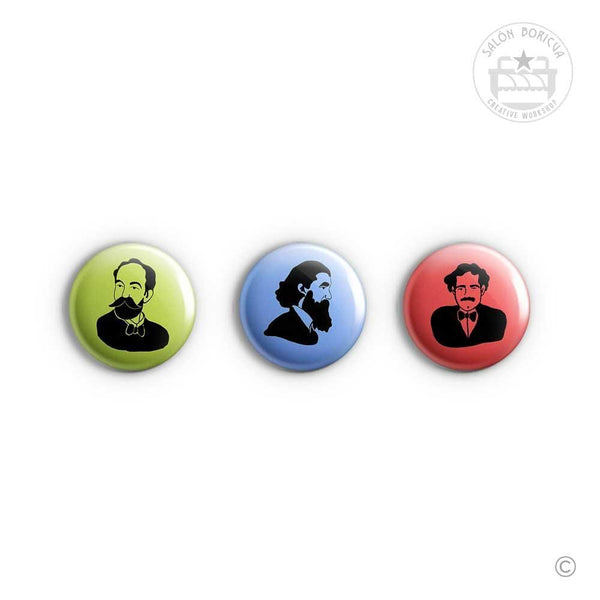 3-Pack: #16 Hostos x Betances x Albizu (Baby Pins)