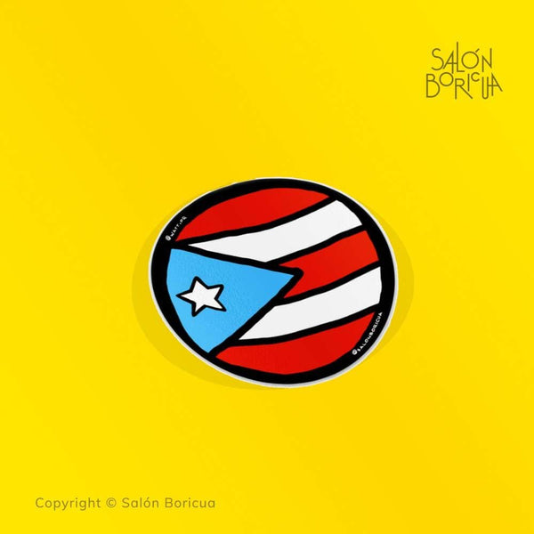 Bandera: PR Rounded - Sky Blue (Premium Sticker)