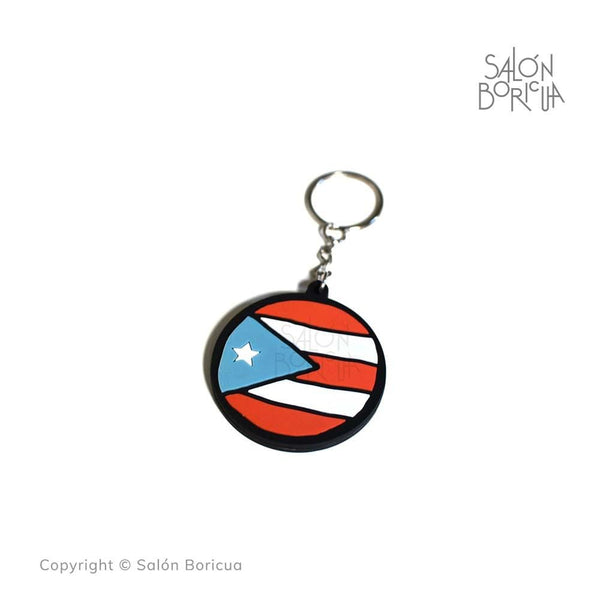 Llavero: PR Rounded -Sky Blue (PVC Keychain)