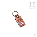 P.R. Flag Red (Leather Keychain)