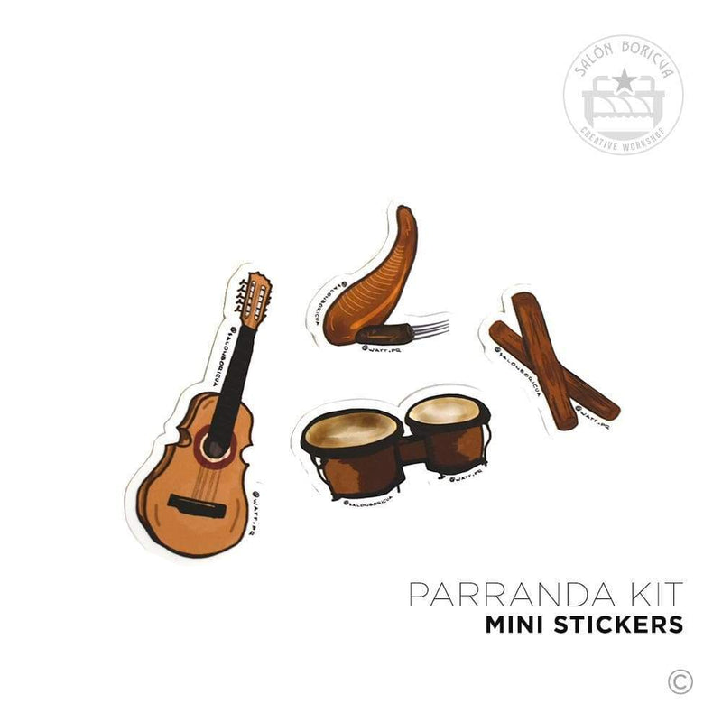 Parranda Kit Mini Stickers (Premium Sticker)