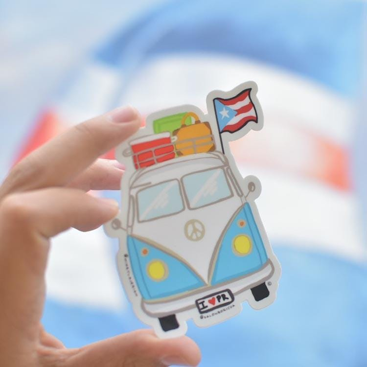 La VW Boricua (Premium Sticker)