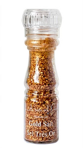 Gold Salt and Black & Gold Pepper - le-marche-sassafras