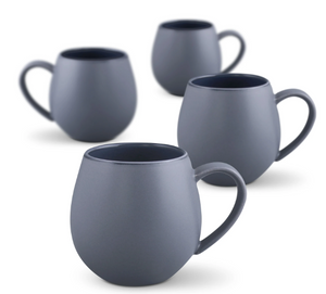 Hug Me Mugs, Grey - Set of 4