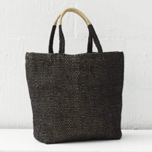 Load image into Gallery viewer, Jute Shopper - Charcoal
