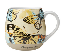 Load image into Gallery viewer, Hug Me Jumbo Mugs - Butterflies Bromely Yellow