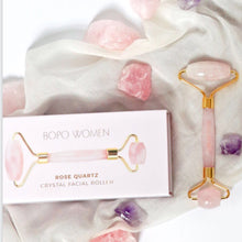 Load image into Gallery viewer, Bopo Rose Quartz Facial Roller