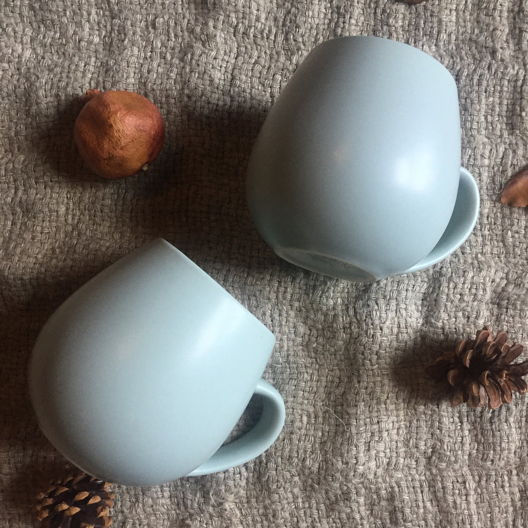 Hug Me Mugs, Eucalyptus - Set of 4