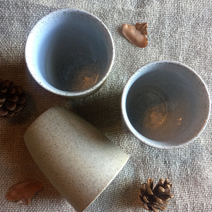 Granite Latte Cup - White