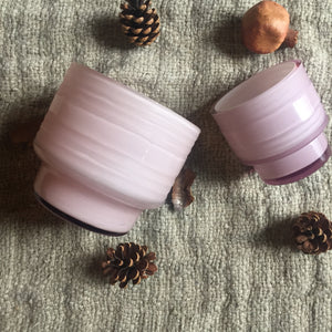 Leia Glass Votives - Icy Pink