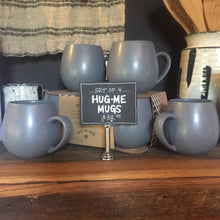 Load image into Gallery viewer, Hug Me Mugs, Grey - Set of 4